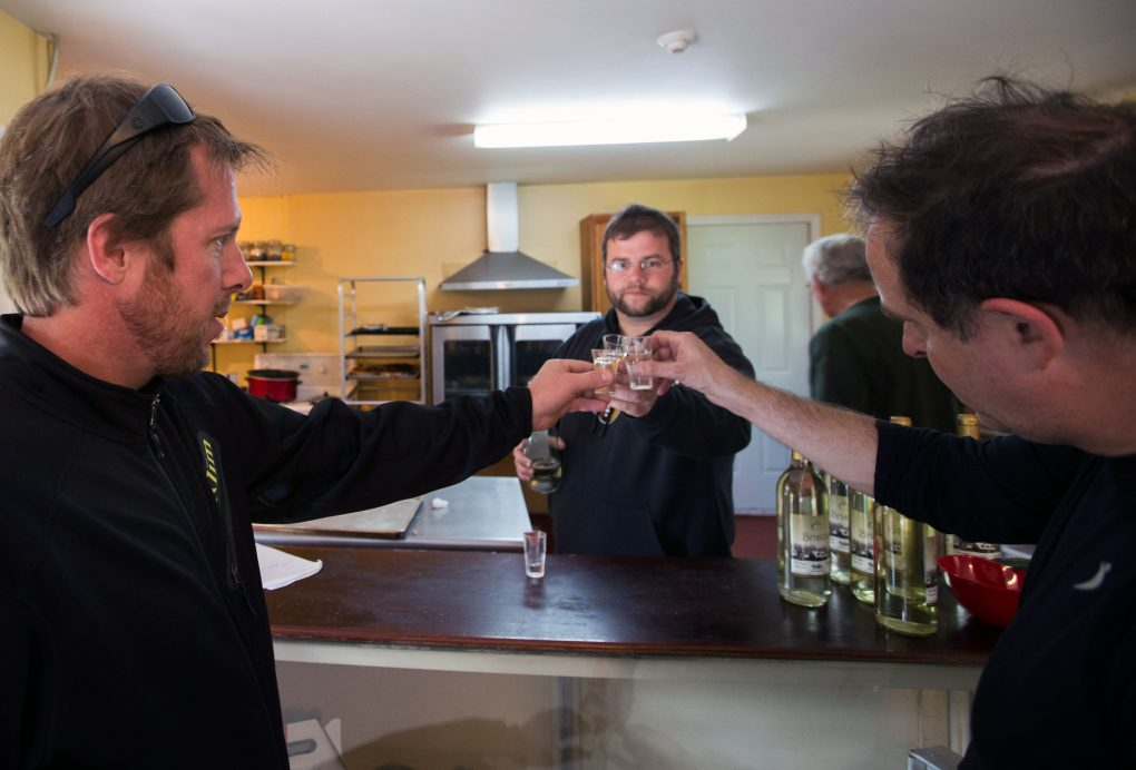 Cheers at the Coronation Hall Cider Mills!