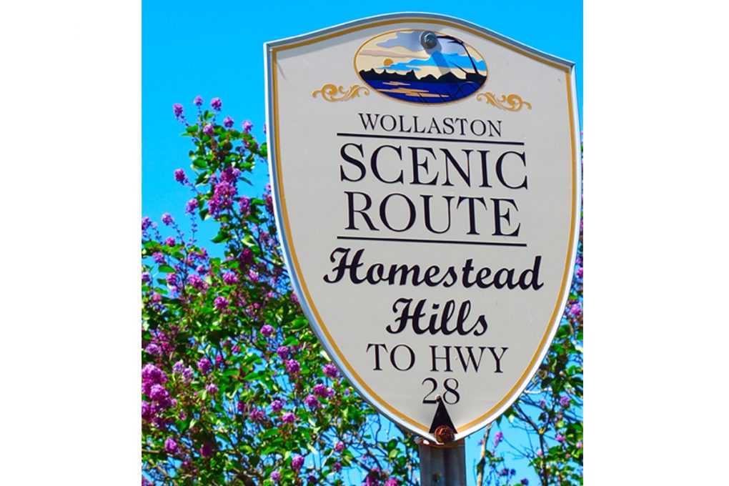 Wollaston Scenic Route Hwy Sign