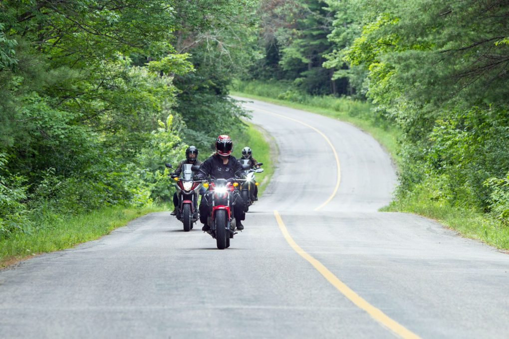 3 bikes on the twisty road