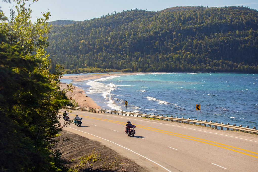Motorcycling along Lake Superior