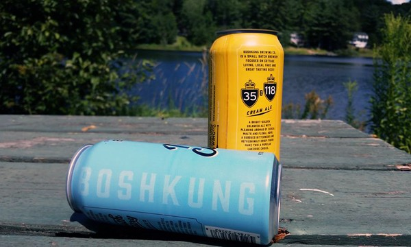 Boshkung beer overlooking lake