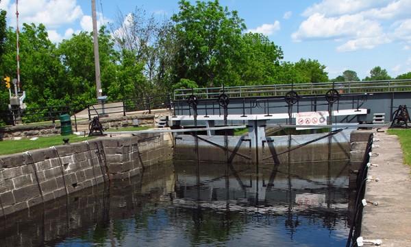 Canal locks closed