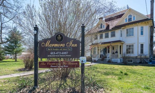 Exterior of Marmora Inn building